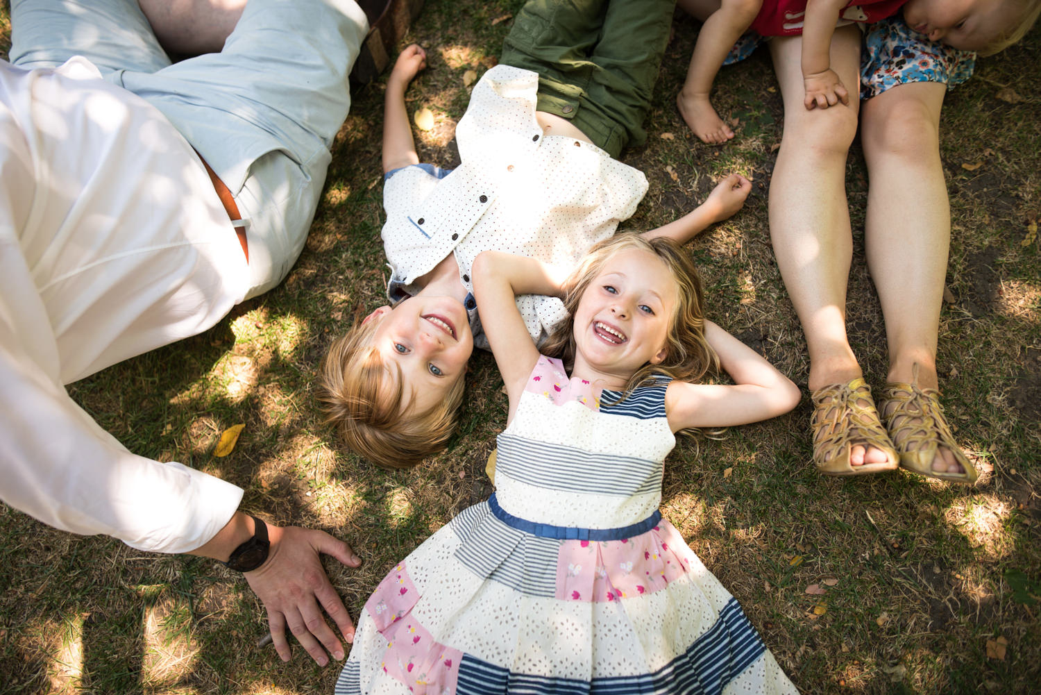 family portraits in a london park